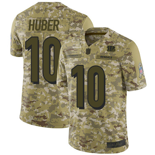 Men's Kevin Huber Camo Limited Football Jersey: Cincinnati Bengals #10 2018 Salute to Service  Jersey